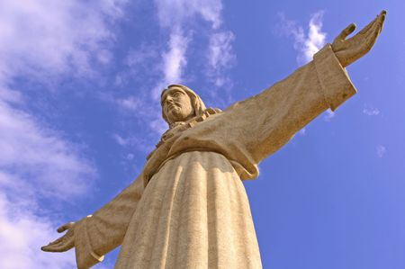 Portugal, Lisbon: Cristo-Rei  is a Christian monument overlooking Lisbon; the most famous portuguese sculpture photo