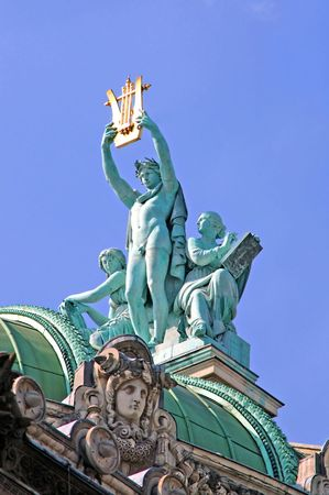 appeal: France, paris: Statue of Opera Garnier, enormous outdoor statue