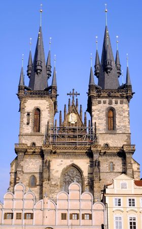 tyn: Czech Republic, Prague: The Church of Our Lady Before Tyn