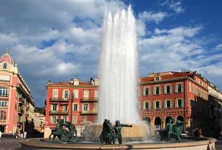 France, Nice: famous places, french riviera, Place Massena Stock Photo - 2633658