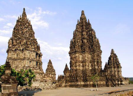 yogyakarta: Indonesia, Java: Yogyakarta, temple of Prambanan one of the most ancient indonesian temples  Stock Photo