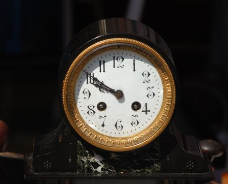 Ancient rond alarm clock maybe from the middle of the last century