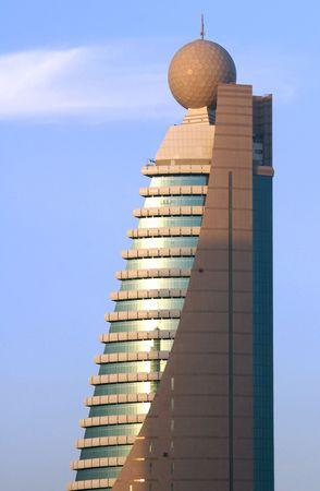 united arab emirate: United Arab Emirates: Dubai  etisalat tower 2; this modern building symbolise the success of  dubai economy; etisalat is the emirate telecomunications company