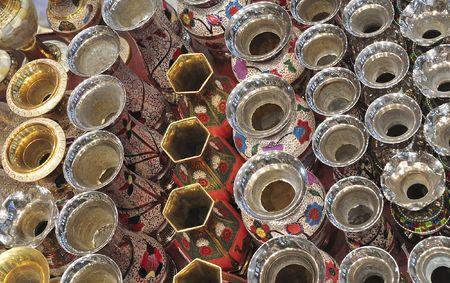 bur dubai: United Arab Emirates: Dubai ; souk in bur dubai ; traditional arabic chicha or water-pipe Stock Photo