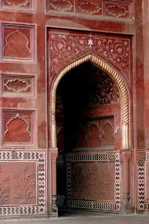 India, Agra: Taj Mahal; one of the entrances of the mosque photo