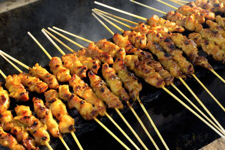 speciality: Malaysia, Langkawi: Sate barbecue this  is a gastronomic speciality of  malaysia.  chicken lessbones grilled with a sugar or honey sauce