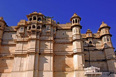 maharaja: India; udaipur; city palace; the city palace sheltes the pratap museum; a fantastic ancient red stone architecture for this famous palace