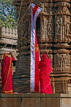 nonviolence: India; Chittorgarh; jain ceremony; the jainism is one of the oldest religions in the world; jain community believe in the ascetic tradition and in ethical and spiritual self- control