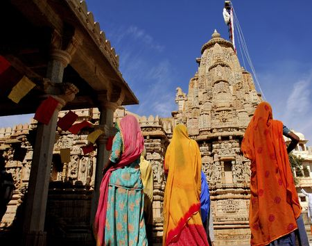 reincarnation: India; Chittorgarh; jain ceremony; the jainism is one of the oldest religions in the world; jain community believe in the ascetic tradition and in ethical and spiritual self- control