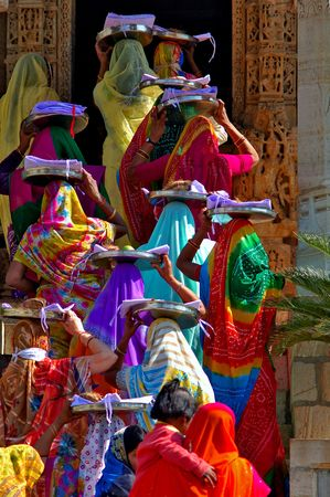 India; Chittorgarh; jain ceremony; the jainism is one of the oldest religions in the world; jain community believe in the ascetic tradition and in ethical and spiritual self- control