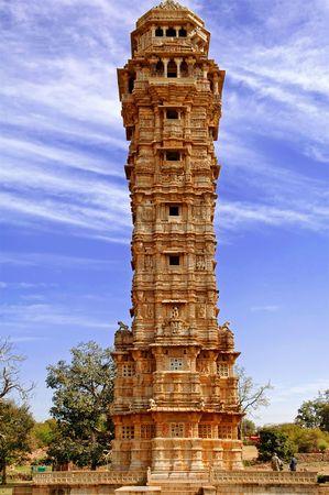 fort: India, Chittorgarh: Vijay Stambh; the tower of the victory