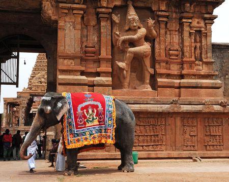 India South-India Tanjore: Brihadishvara temple Foto de archivo