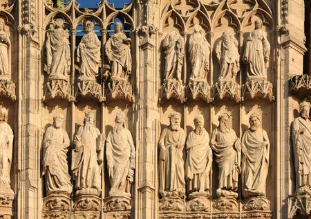 richard: France Rouen: the gothic Cathedral of Rouen was the world�s tallest building from 1876 to 1880. The Norman cathedral contain the tomb of Richard the Lion heart. Detail of the facade