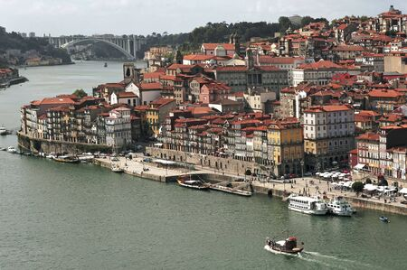 luis: Portugal, Porto; view of the ancient city with is main river, the Douro.