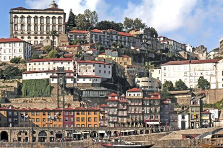main river: Portugal, Porto: Ribeira district; view of the ancient city with is main river, the Douro.