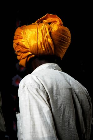 headress: India, South-India: Madurai, Sri Meenakshi Temple: man from Rajasthan with the traditional turban