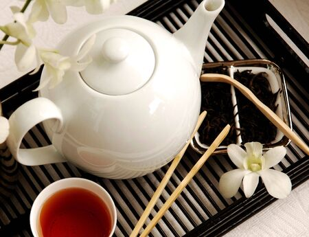 red tea: Chinese tea preparation is a daily ancient  ceremony