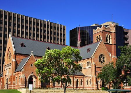 georges: In Australia in the city of Perth View of Georges Cathedral an old building in the street of the same name