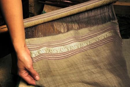 natural weaving silk fabric Stok Fotoğraf