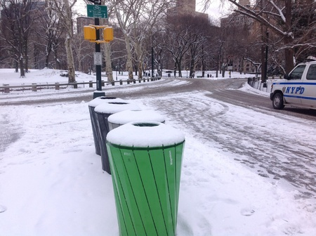 snowing: Snowing in Central Park