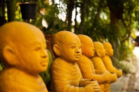 Thai yellow monk Stock Photo - 7819922