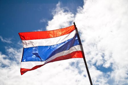 Thai flag in the blue sky