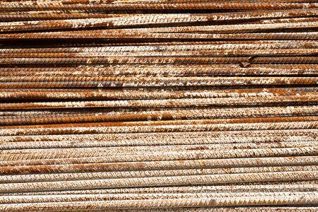 Rust steel bar Stock Photo