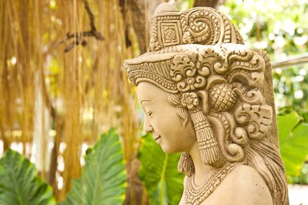 Thai women stone sculpture photo