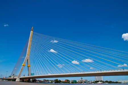 Rama 8 bridge in thailand Stock Photo - 8122428