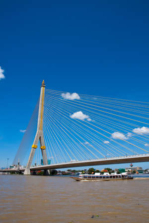 Rama 8 bridge in thailand Stock Photo - 8122429