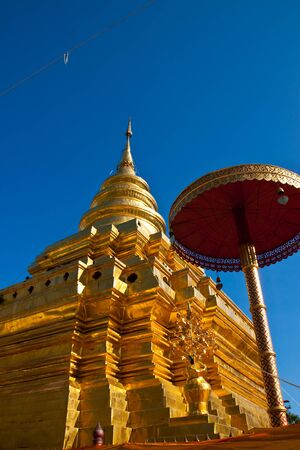 The stupa in thai temple  photo