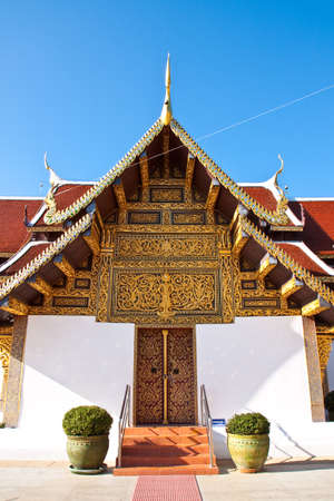 The sanctuary of thai tample