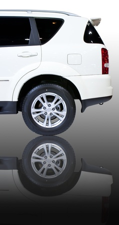 The rear part of SUV car Stock Photo