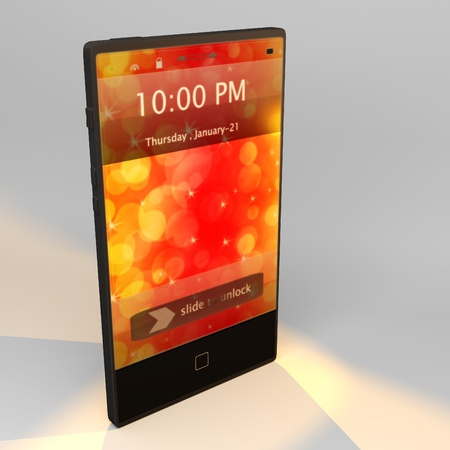 Touch screen phone in 3D photo