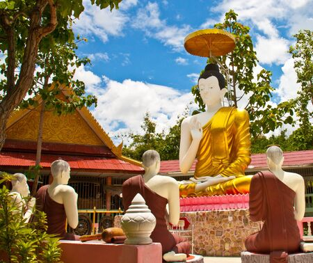 Dharma teaching of buddha Thailand Stock Photo