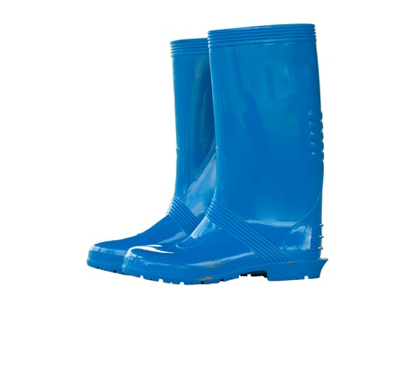 The blue boot in the isolated picture