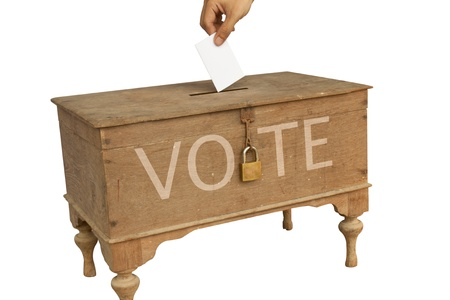 Voting box in isolated picture Stock Photo