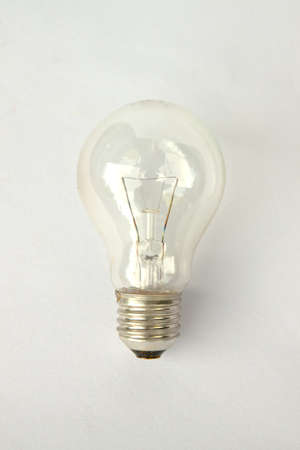 The bulb in the isolated picture Stock Photo