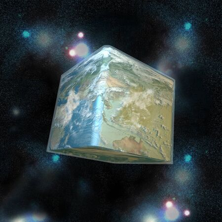 The cube world in the space Stock Photo - 9898897