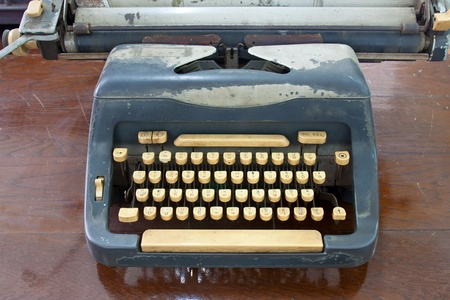 The old typing on the table photo