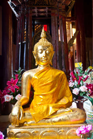 king thailand: The monk statue in the sanctuary