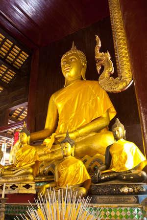 sanctuary: The monk statue in the sanctuary