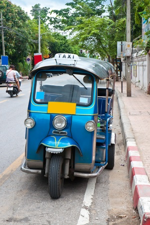 Thai taxi on the side street  photo