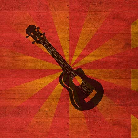 The guitra and retro background Stock Photo - 9899254