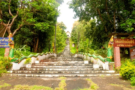 The path way of temple photo
