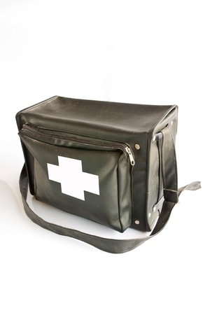 The first aid box in white