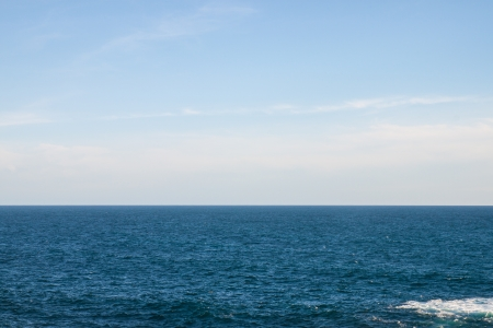 Pacific sea and perfect sky Stock Photo