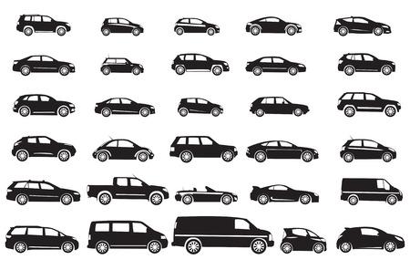 Een reeks verschillende auto