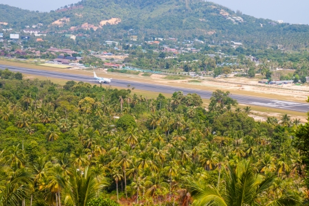 The airport in the island