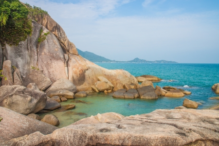 The grand father rock in Samui island